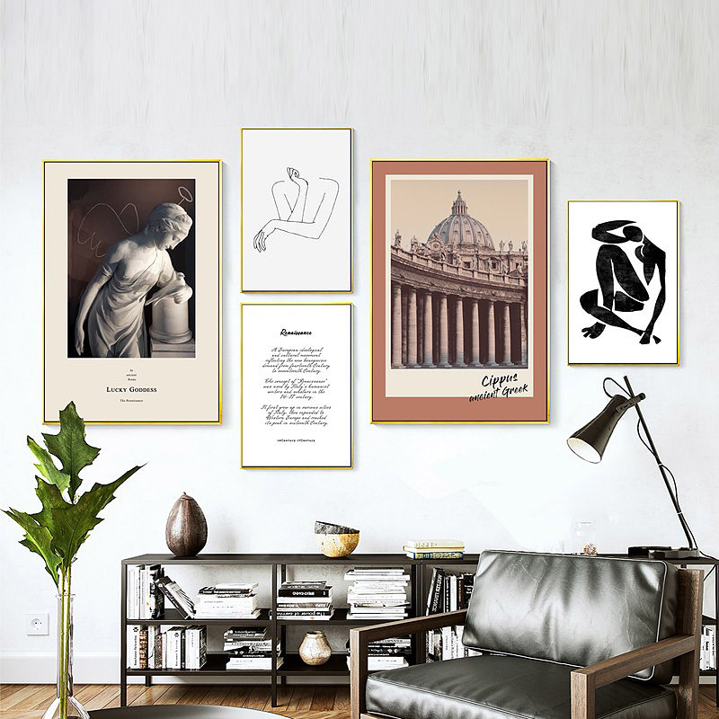 Sd Linleehon Human Body Wall Art Modern Abstract Painting Family Quotes Vintage Posters Prints Living Room Home
