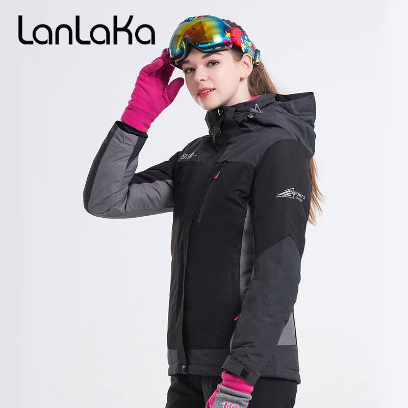 LANLAKA Delle Donne di Marca Giacca Da Sci Giacca Da Snowboard Escursioni Cappotto Antivento Impermeabile Super-Caldo Abbigliamento Femminile di Sport Esterno di UsuraLANLAKA Delle Donne di Marca Giacca Da Sci Giacca Da Snowboard Escursioni Cappotto Antivento Impermeabile Super-Caldo Abbigliamento Femminile di Sport Esterno di Usura