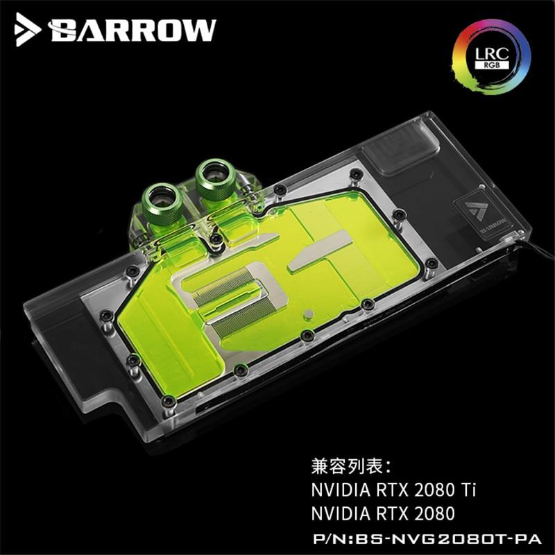 Brouette GPU Bloc De L'eau Pour Version Publique Nouveau RTX2080Ti/2080 D'eau De Refroidissement Radiateur BS-NVG2080T-PA