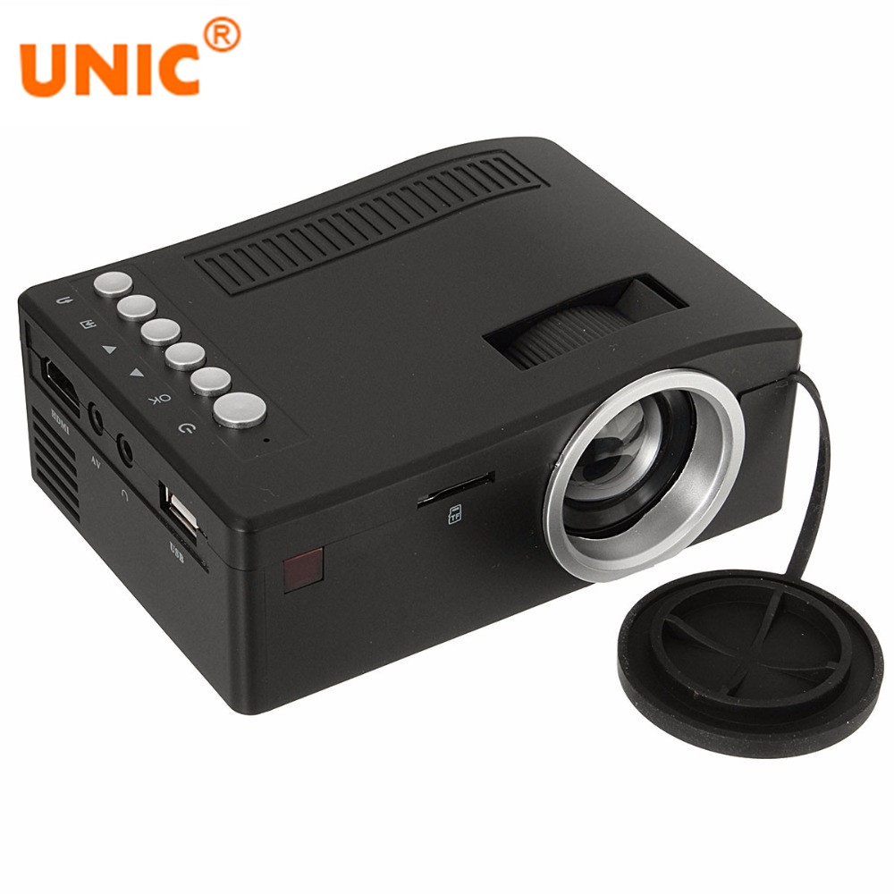 UNIC Projector Cinema Mini LCD with USB Tf-Card AV Cable for Home Theater 500:1