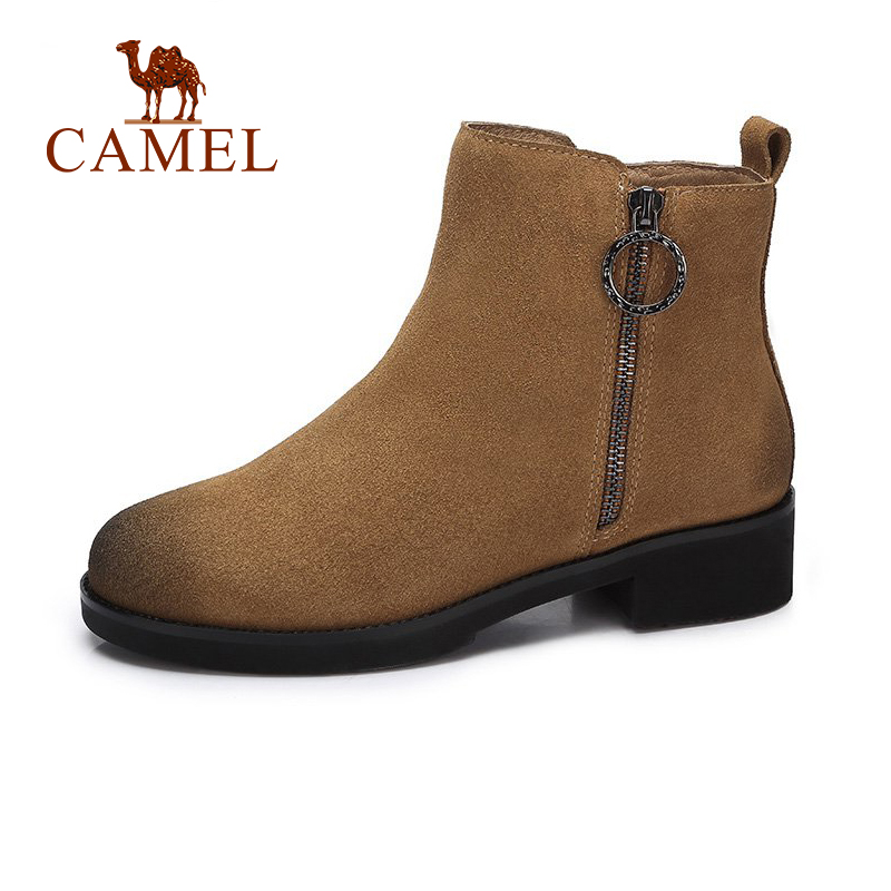 CAMEL 2018 Women Boots Shoes Winter New Flat Martin Short Boots Shoes Women Retro Style Keep Warm Comfortable Shoes все цены