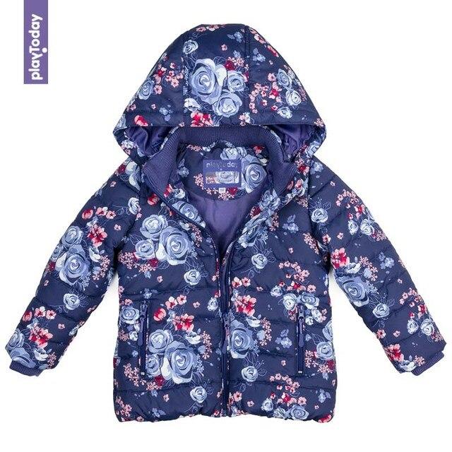 Куртка утепленная PLAYTODAY для девочек 372052