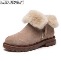 非スリップ防水女性の靴暖かい雪のブーツファッションアンクルブーツ韓国語バージョンブーツ新 bota ş mujer mm102