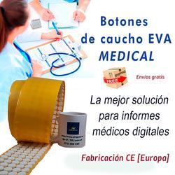Рулон с 2,000 кнопками резиновый EVA медицинский предмет CD/DVD Белый Бесплатная доставка