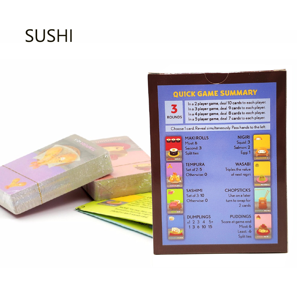 Sushi Table Board Game Full English 2-5 Player High Quality Japanese Food Go Travel  Family Party Game