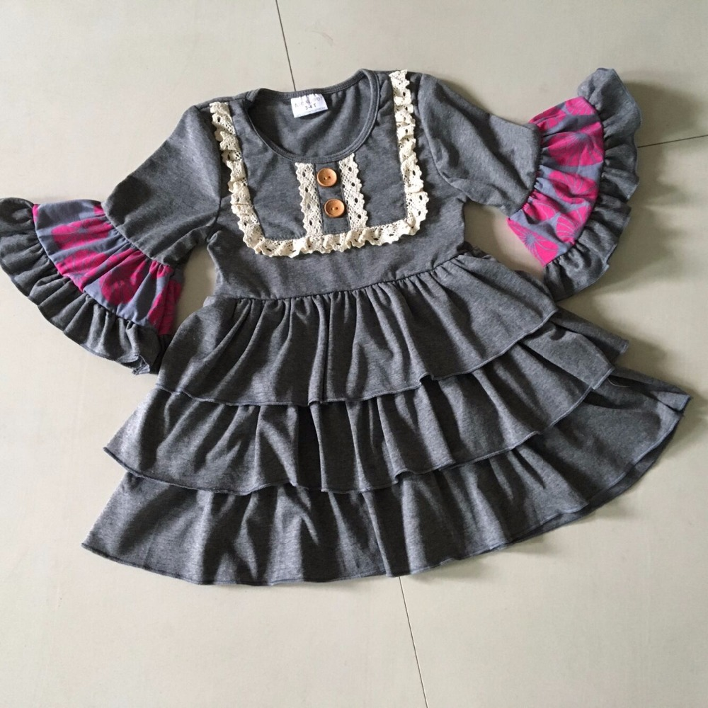 Unique Ruffle Baby girl Dress Fall New Style Smart Casual Clothing A Cute Lace Bib Infants