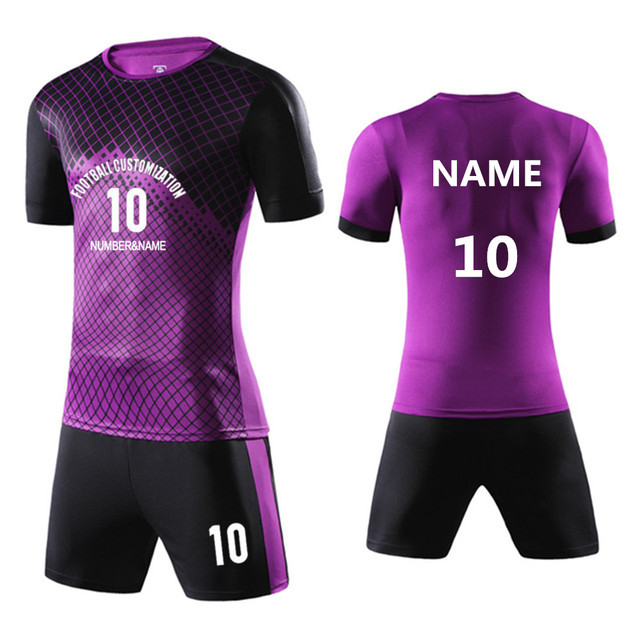 bafa6da59 Kids Child Soccer Jerseys Sets Sport Kit Uniforms Kits Futebol Tracksuits Football  Jerseys Breathable Customized Print Name Logo