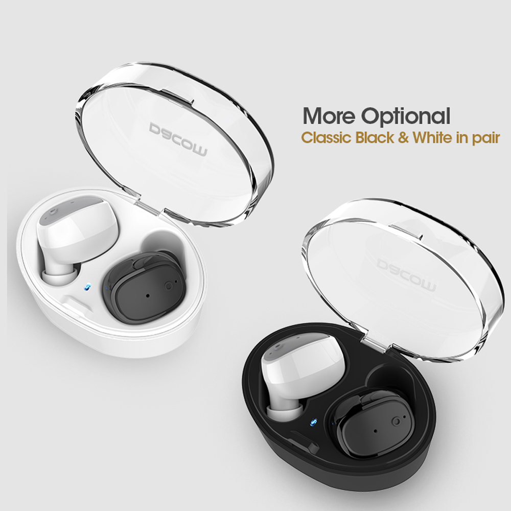 DACOM S030 True Wireless Stereo Earbuds TWS Bluetooth Earphone Hands-free Earpiece with Mic Charger Dock for IOS Android Phone dacom gf7 car kit bluetooth v4 2 earphone with mic charger dock for iphone 7