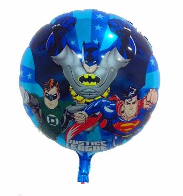 1PCS/lot 18-inch Super Hero Balloon Marvel Avengers Spider-Man Batman Foil Balloon Children's Birthday Party Supplies Baby Toys