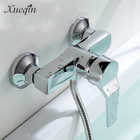 Bathroom Zinc Alloy Wall Mounted Hot Cold Shower Mixer Valve Single Handle Bath Shower Faucet Basin