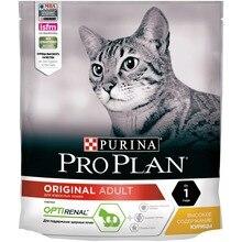 Сухой корм Purina Pro Plan для взрослых кошек от 1 года, с курицей, 8 упаковок по 400 г