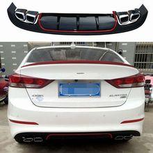 For Elantra Car Accessories Rear Per Protector Dual Diffuser Spoiler 2017 Lip