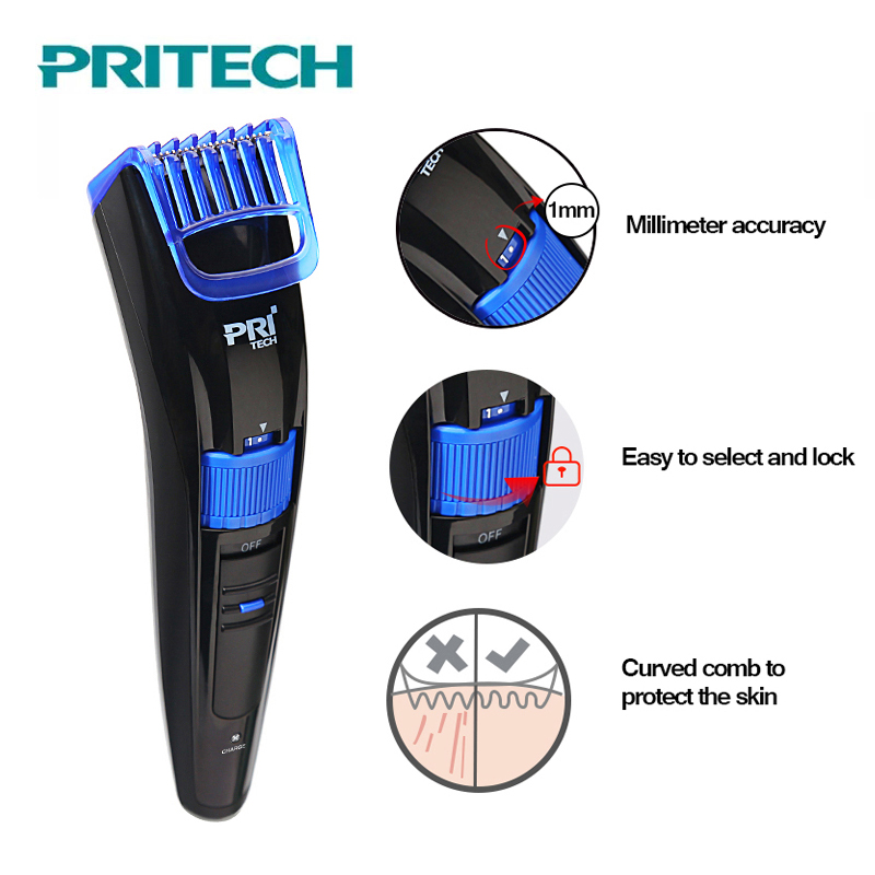 PRITECH 2018 Electric Trimmer For men Rechargeable Hair Clipper Professional Hair Cutter Adjustable Hair Cutting Machine original km 8088 professional electric rechargeable hair trimmers mens kids hair clipper hair cutting machine hair cutter