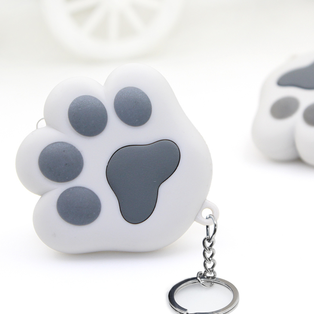 Fashion Cute Cat Paw LED Keychain with Sound Christmas Children Creative Gift