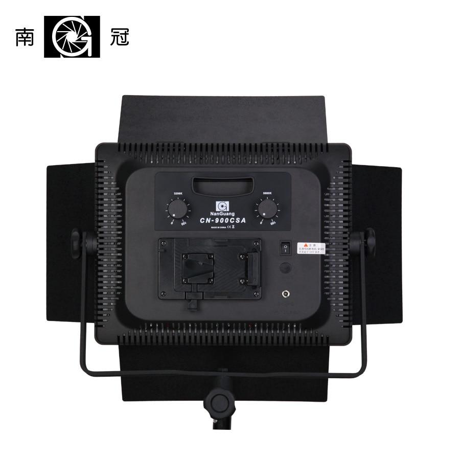 Nanguang CN-900SA LEDS 6850 LM Bi Color 5600K LED Video Studio Light Panel for Camera Video with V Lock Battery Mount NiteCore