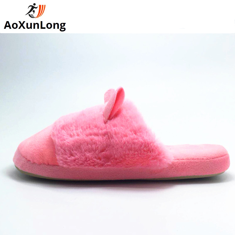 Spring Home Slippers Warm Flats Woman Flip Flop Cute Rabbit Slide Women Slippers Red Size 38/39 Pokemon Women Shoes Indoor 7/7.5 qweek women home animal slippers fur indoor rabbit slippers warm ladies cute funny adult slippers female slide house shoes