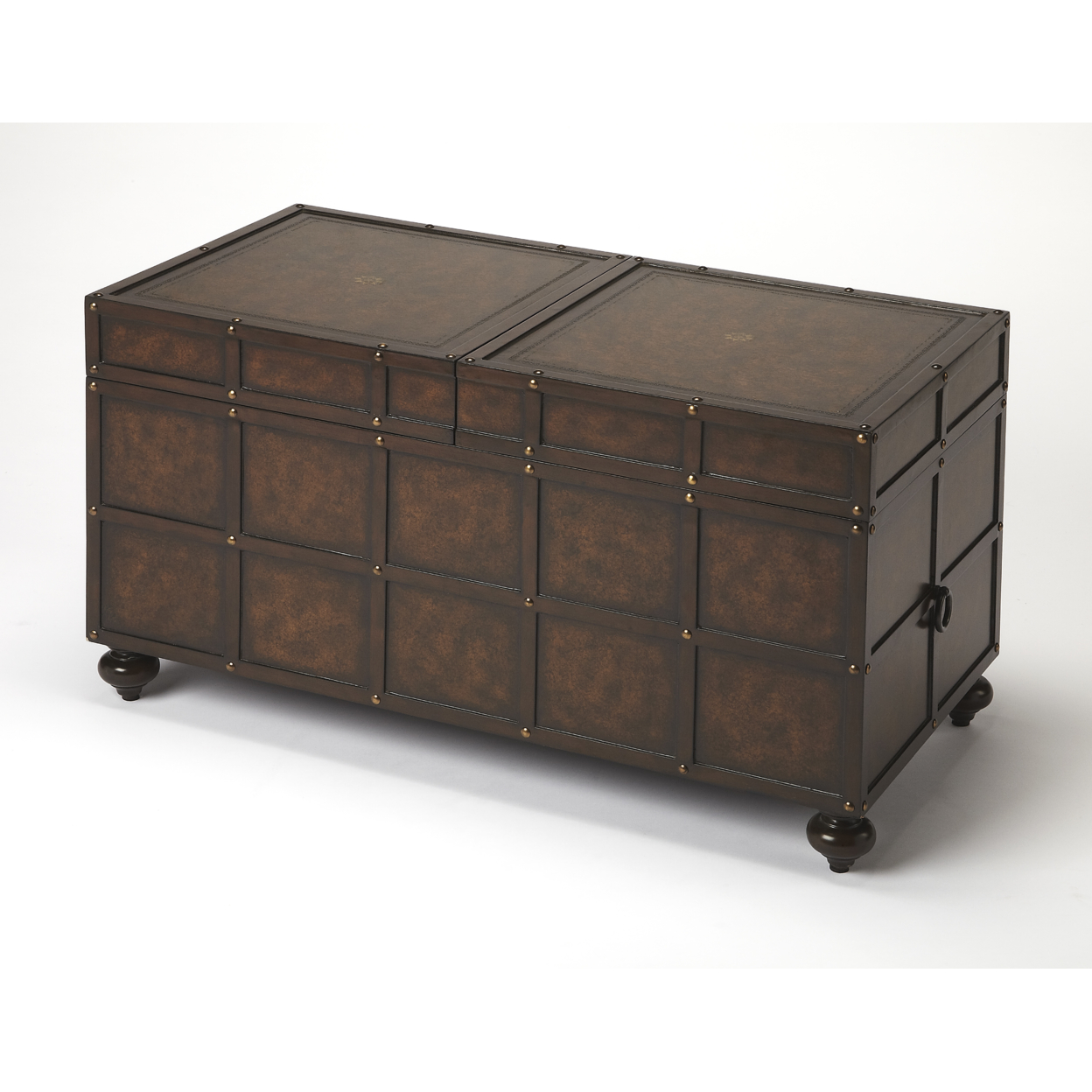 Butler Dennard Faux Leather Trunk Cocktail Table серьги butler and wilson