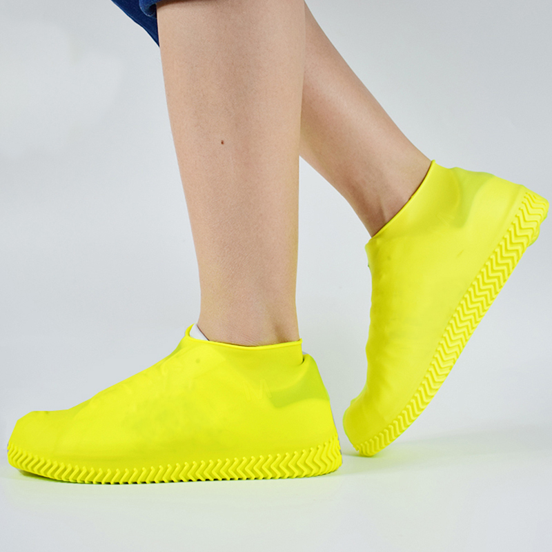 Recyclable Silicone Overshoes Reusable Waterproof Rainproof Men Shoes Covers Rain Boots Non-slip Washable 6 Colors S/M/L 1