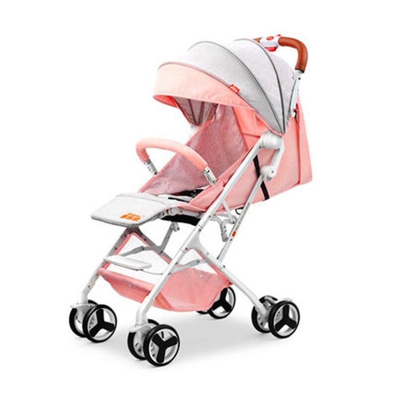 2018 new baby stroller lightweight children shock absorbers can sit reclining newborn BB stroller baby stroller ultra light portable shock absorbers bb child summer baby hadnd car umbrella