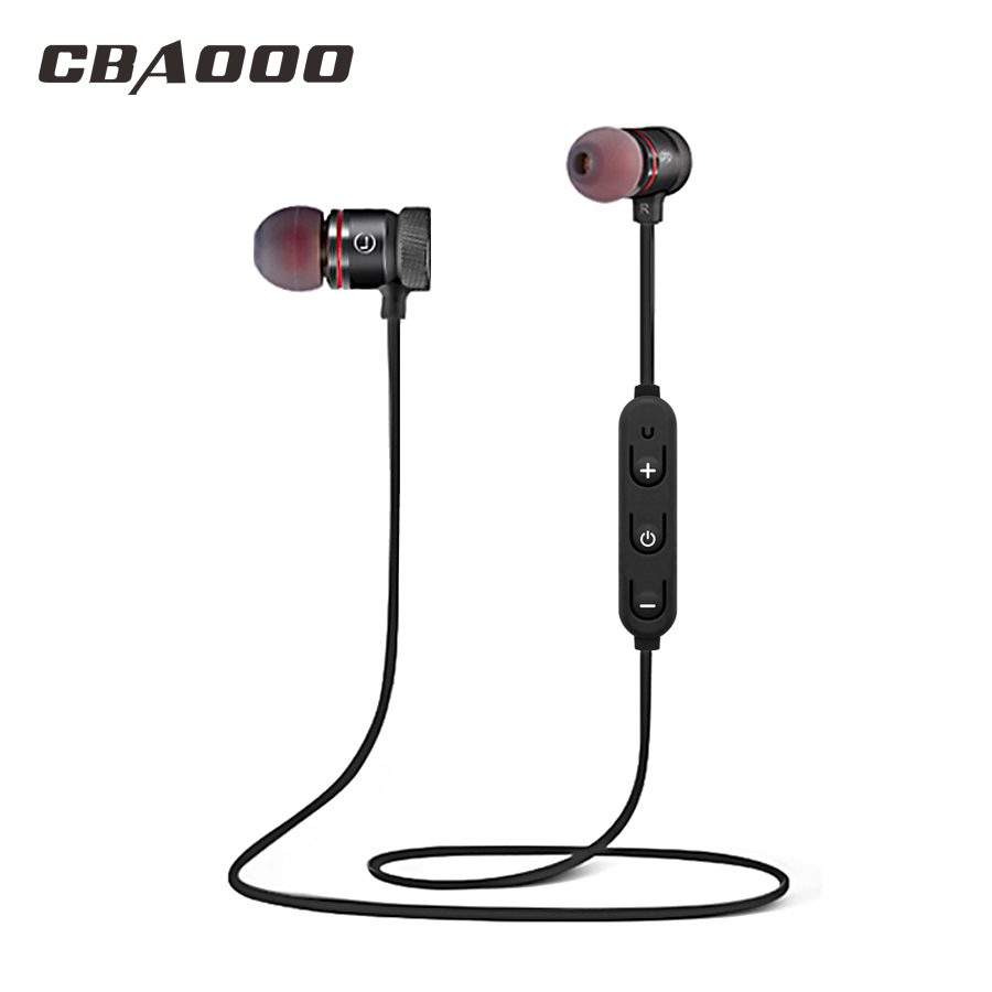 CBAOOO Wireless Bluetooth Earphone Headphone Sport Bluetooth Headset Wireless Earpiece Earbuds Fone de ouvido For Phone with Mic ttlife mini bluetooth earphone usb car charger dock wireless car headphones bluetooth headset for iphone airpod fone de ouvido