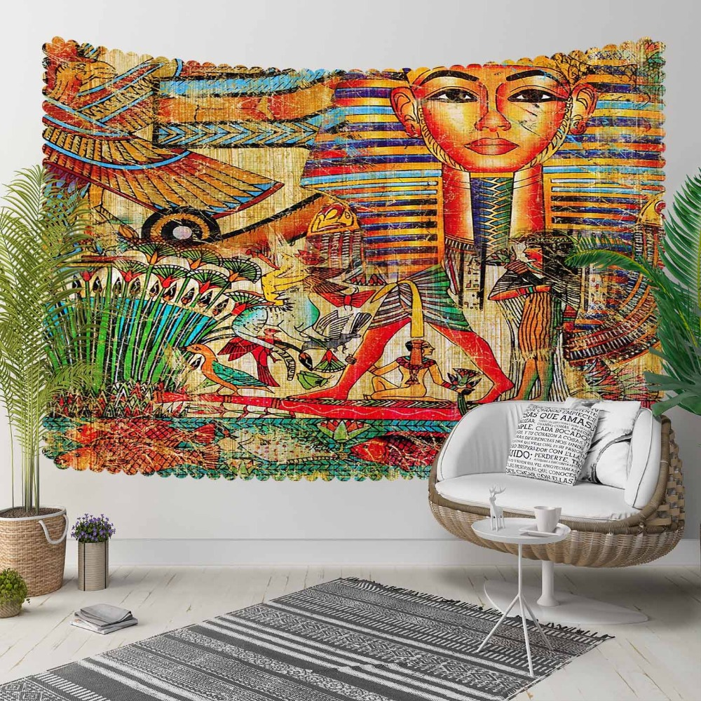 Else Orange Yellow Brown Red Eagypt Ethnic Tribal 3D Print Decorative Hippi Bohemian Wall Hanging Landscape Tapestry Wall Art
