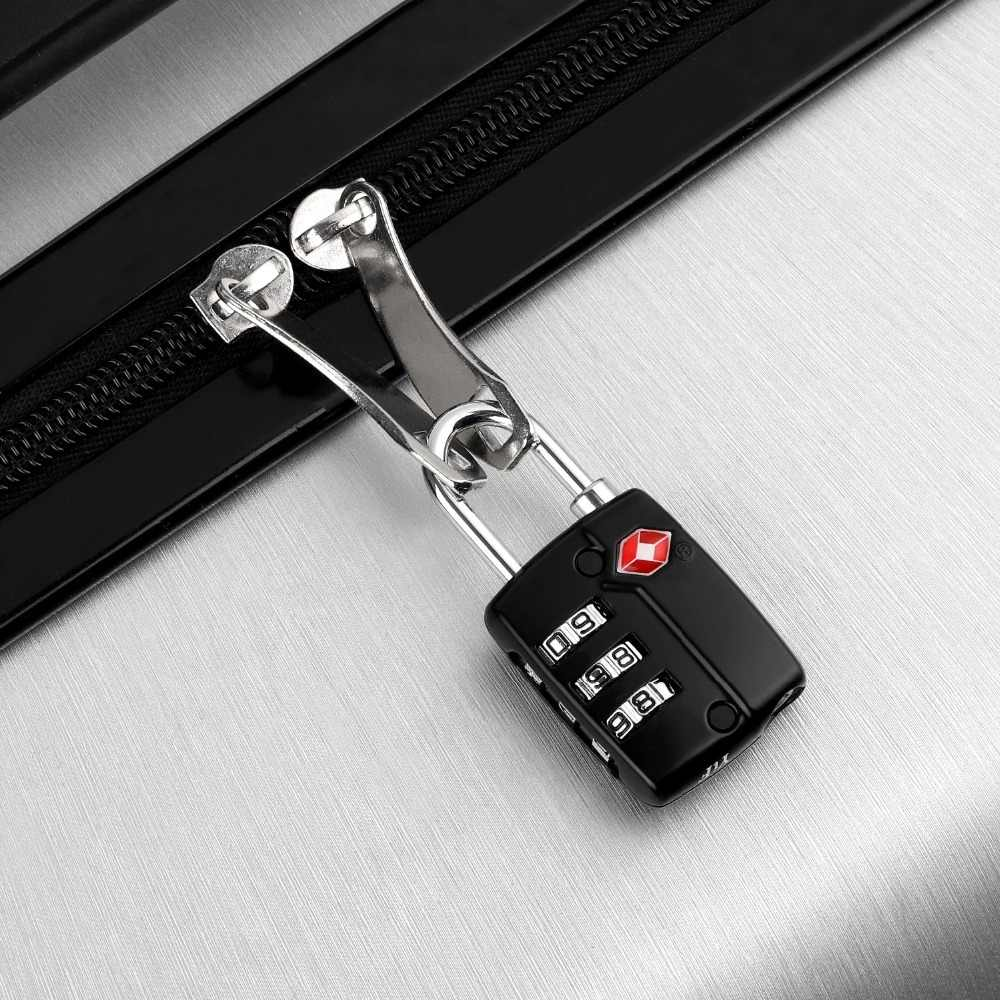 Tacklife HCL3A 2pcs 2 4in TSA Customs Combination Code Lock Padlock Luggage  Digit Combination Locks Gym Locker School Suitcases