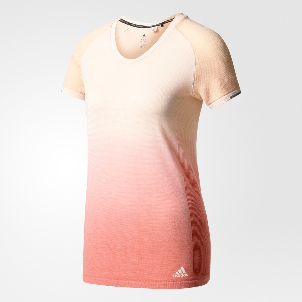 Female T-Shirt Adidas AZ2896 sports and entertainment for women sport clothes stylish short sleeve round neck high low hem cat and letter print t shirt for women