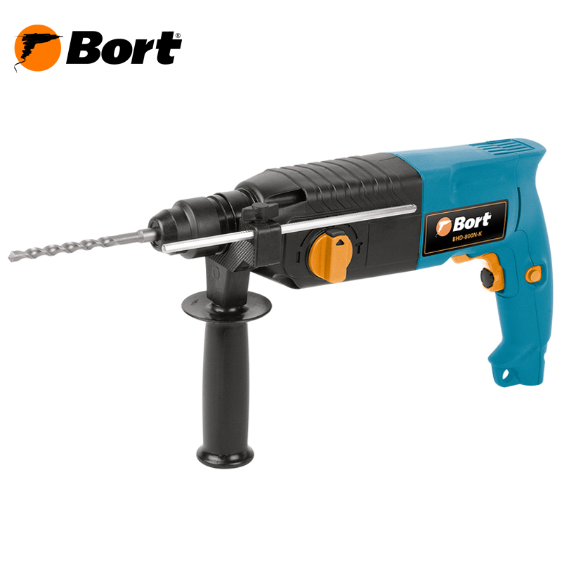 цена на BORT Electric Drill Rotary Hammer Drill Impact Drill Multi function Adjustable Speed Woodworking Power Tool with BMC Accessories BHD-800N-K