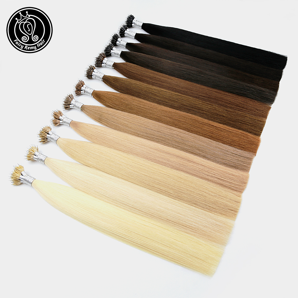 Fairy Remy Hair 1g/s 16 Inch Remy Nano Tip Hair Extensions Brown Color Keratin Straight European Micro Beads Hair 50 Pieces