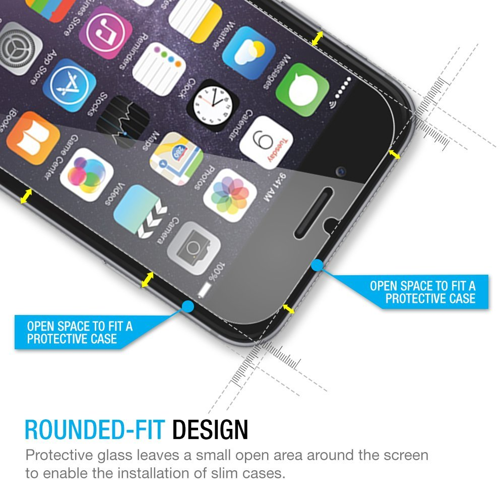 70ad4903e49 VORSON Ultra Thin Premium Tempered Glass Screen Protector For iPhone 7 8  7plus 6 6s 5s 5 SE 4s ipX HD Toughened Protective Film-in Phone Screen  Protectors ...