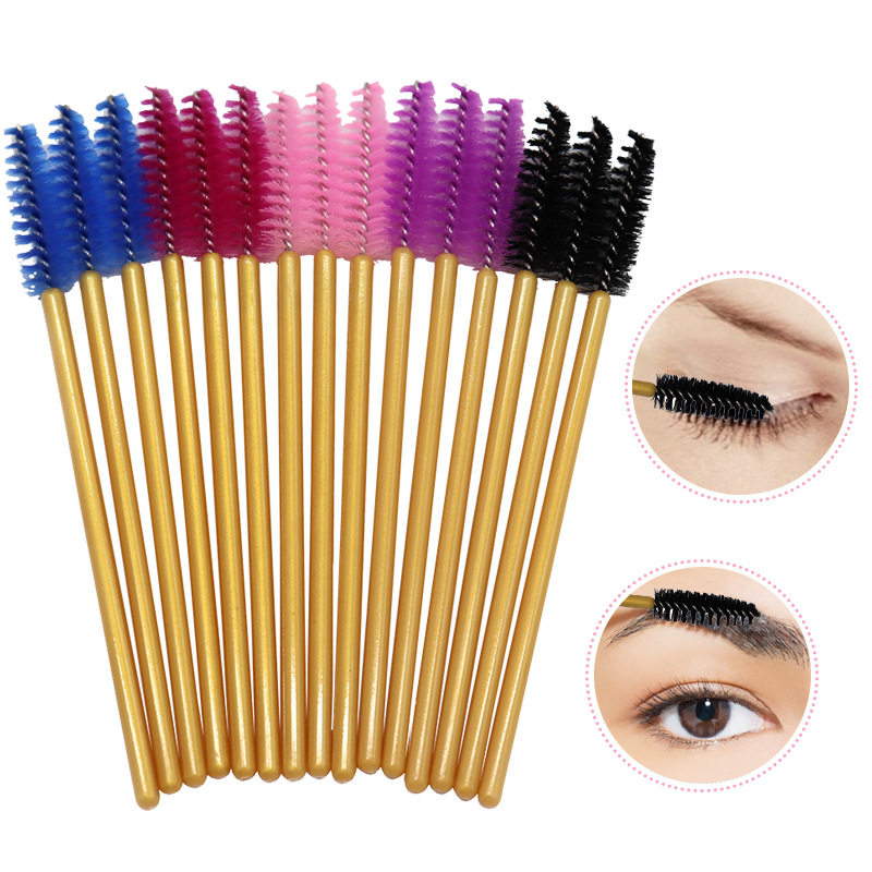 100pcs Disposable Makeup Brushes Mix 5 Color Eyelash Mascara Brushes