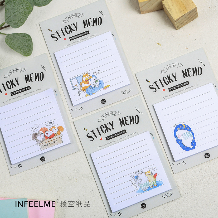 20 sets/1 lot Creative Day-to-day beauty Memo Pad Sticky Notes Escolar Papelaria School Supply Bookmark Post it Label