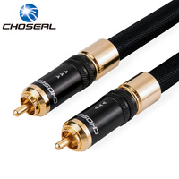 Choseal QS993 Coaxial Cable RCA To RCA Single Crystal Copper HIFI Audio Wire Digital Coaxial Audio