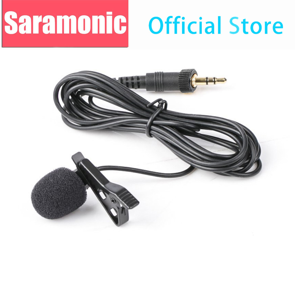 Saramonic SR-UM10-M1 Replacement Lavalier Microphone With 3.5mm Locking Screw For The TX9/TX10 Transmitter & UwMic9