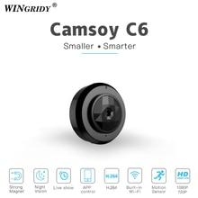 C6 Wi-Fi мини IP P2P Камера Cookycam Micro Беспроводной HD 720P с Ночное видение смартфон приложение охранных видеокамера