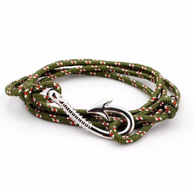 TANGYIN Fashion Hot Multilayer Rope Bracelet hope Anchor Sailor Anchor Bracelets Men For Women Best Gift Hook Bracelet