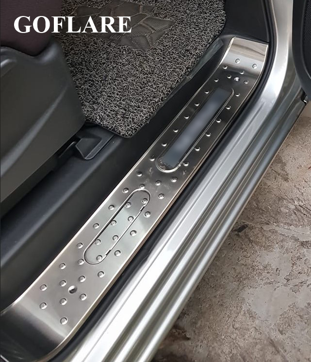 Stainless Steel Door Sill Scuff Plate Guards Cover For Nissan Pulsar 2012-2016