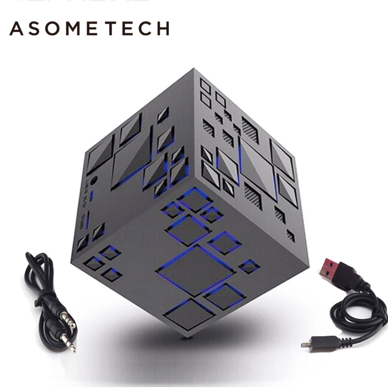 Portable Speakers Audacious Portable Cube Bluetooth Wireless Speaker For Xiaomi Xiomi Mi Iphone Aux Led Super Bass 3d Surround Subwoofer Stereo Loudspeaker Customers First Back To Search Resultsconsumer Electronics