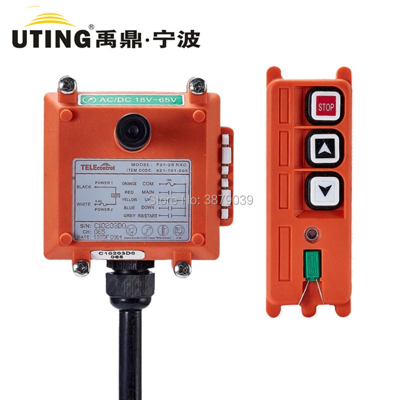 F21-2S (1 Transmitter+1 Receiver) Industrial Wireless Remote Control for Crane two speed four direction crane industrial wireless remote control transmitter 1 receiver f21 4d ac110 sensor motion livolo