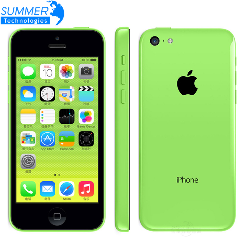 Original Unlocked IPhone 5C IOS Dual Core 16GB 32GB 8MP Camera 4 0 Inches WIFI GPS