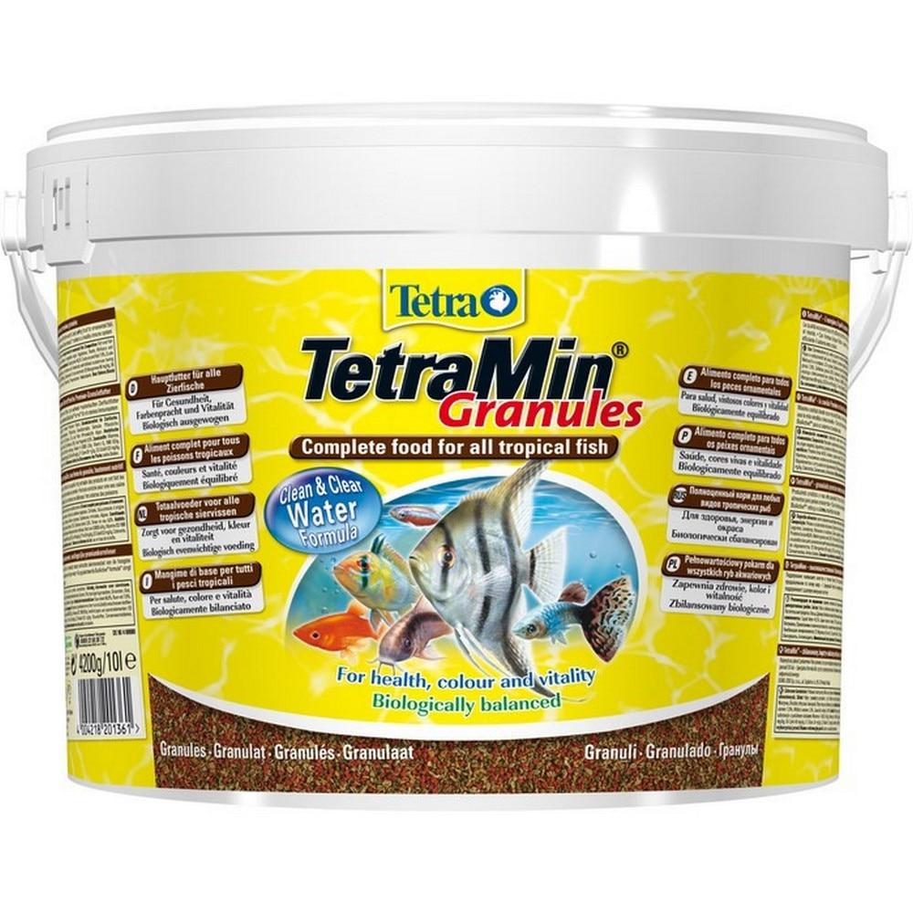 Фото - Fish food TetraMin Granules feed for all kinds of fish in granules 10 l (bucket) lambert kay boundary dog and cat repellent granules 28 ounce 1 lb 12 oz