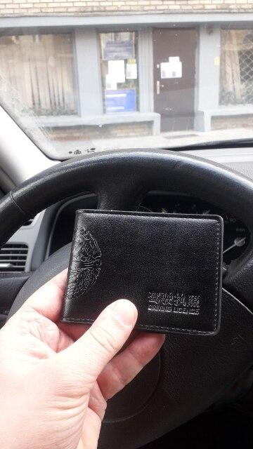 2019 Nieuwe dunne creditcard ID Mini portemonnee Houder Bifold rijbewijs Keeper Organizer photo review