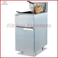 GF23G verticale gas temperatuurgestuurde commerciële chips KFC grote capaciteit frietjes friteuse met mand