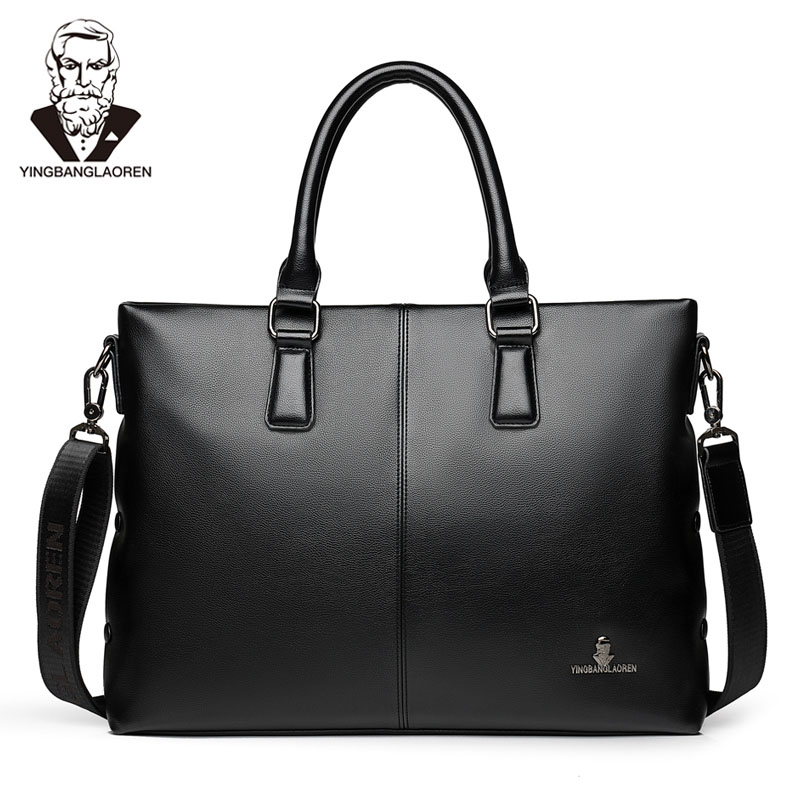 Business Men Briefcases Casual Luxury Brand High Quality PU Wearproof Male Shoulder Bag 2019 Handbag Maleta Porte-documents