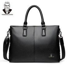 hot deal buy business men briefcases casual luxury brand high quality pu wearproof male shoulder bag 2018 handbag maleta porte-documents