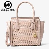 Michael kors Official MK Women shoulder Bag Sexy Women hand bag Hand bags Mercer Studio Woven Leather Cross 30S8SY1M6T