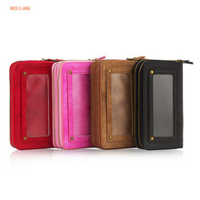 Leather Mini Storage Handbag with Removable Mobile Cover for iPhone SE 5 5S