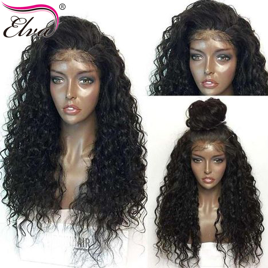 Elva Hair Full Lace Human Hair Wigs With Baby Hair Pre Plucked Glueless Brazilian Curly Lace Wigs For Black Women Remy Hair Wigs