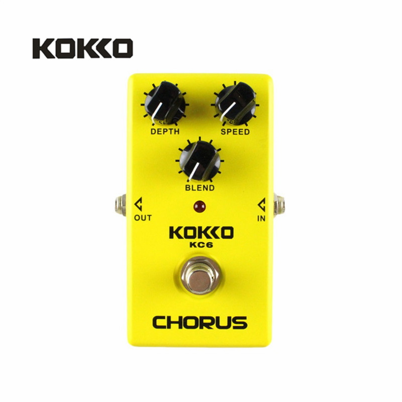 KOKKO KC06 Electric Bass Guitar Effect Pedal Chorus Low Noise BBD True Bypass Professional Guitarra Pedal Effect Prats Accessory mooer ensemble queen bass chorus effect pedal mini guitar effects true bypass with free connector and footswitch topper