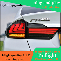 Car Styling Case For HONDA City 2015 2016 Taillights LED Tail Light LED Rear Lamp DRL+Brake+Reversing+Signal LIGHT Accessories